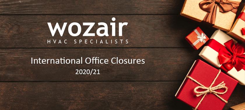 Wozair Festive Office Closures